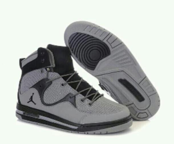 shoes airjordan black grey