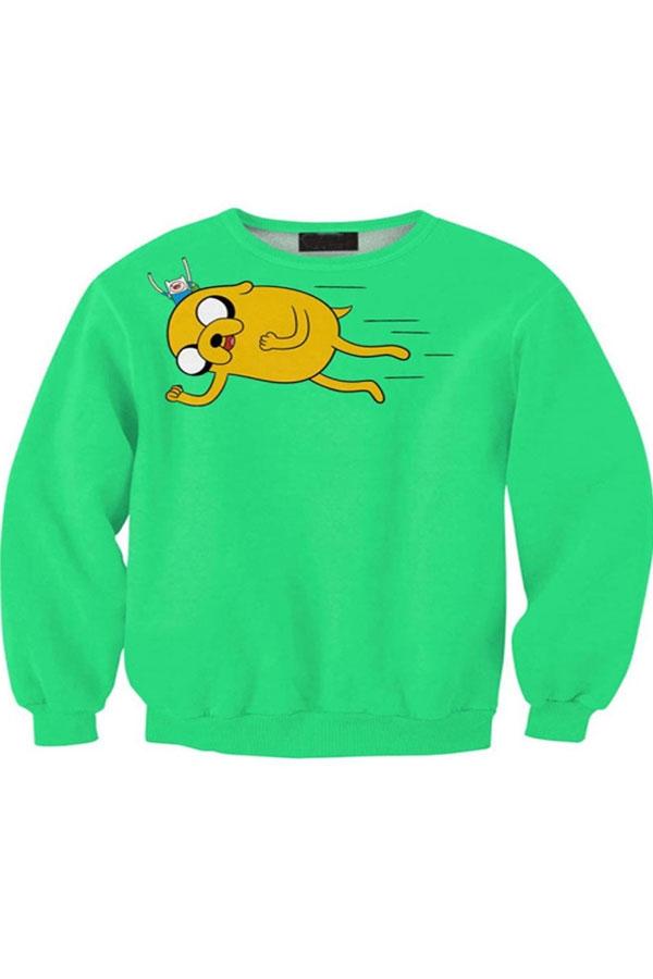 Weirdo Print Sweatshirt - OASAP.com