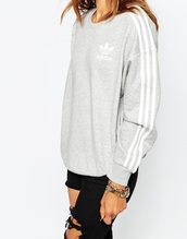 sweater,adidas,sweatshirt,grey,white and grey