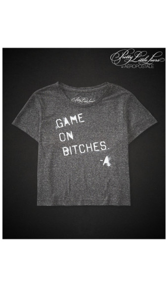 tv show t-shirt pretty little liars quote on it
