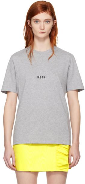 MSGM t-shirt shirt t-shirt mini grey top