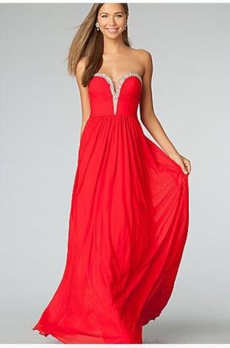 dress red dress jovani chiffon dress sweetheart dresses
