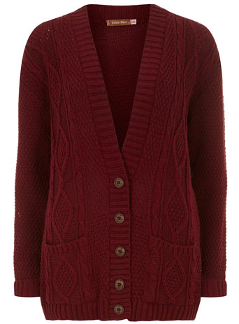 Burgundy knit cardigan - View All Sale  - Sale  - Dorothy Perkins