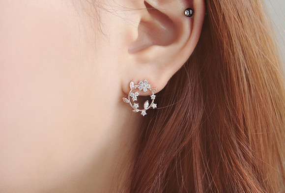 jewels earrings leaves leaves earrings