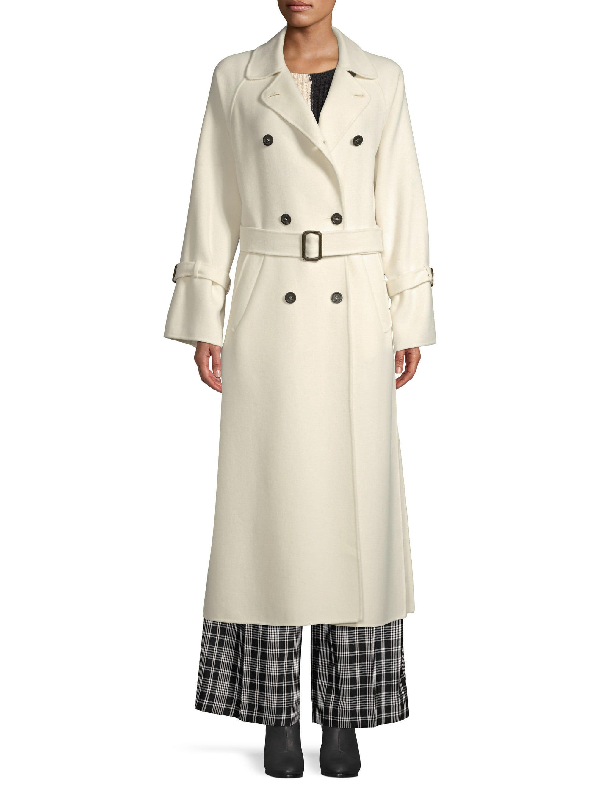 625eb31e5 Weekend by Maxmara - White Oidio Doppio Wool Trench - Lyst