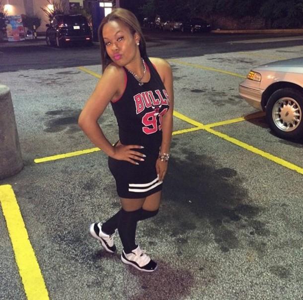 fd463d3711bb chicago bulls basketball dress black and red dress chicago bulls jersey  dress