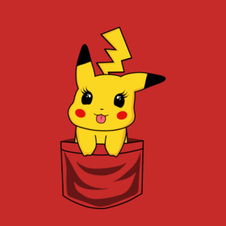 pikachu pika pocket t-shirt pokemon