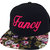 FANCY 3D Flat Bill Snapback Hat Hip Hip Im so Fancy Cap Floral Bill