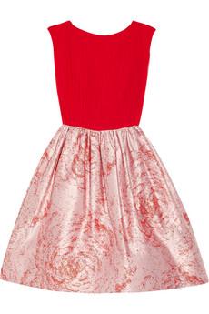 Kirie silk and metallic jacquard dress | THE OUTNET