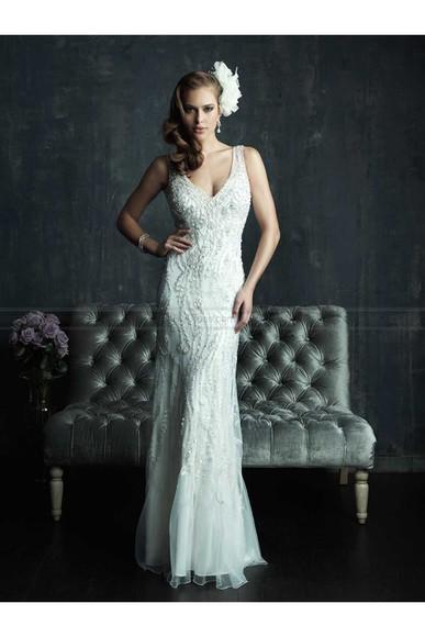 backless wedding dress bridal gowns deep v neck dress