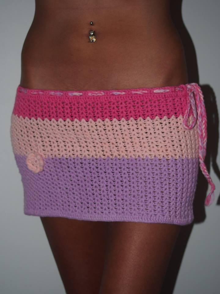 Mini jupe au crochet 100% coton , sur mesures : jupe par stefi