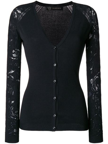 VERSACE cardigan cardigan women lace black sweater