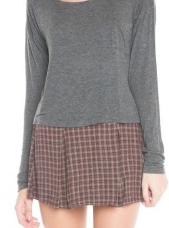skirt cute chic skater plaid gingham pleated skater skirt