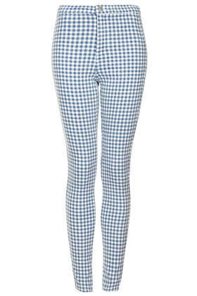 MOTO Blue Gingham Joni Jeans - Topshop