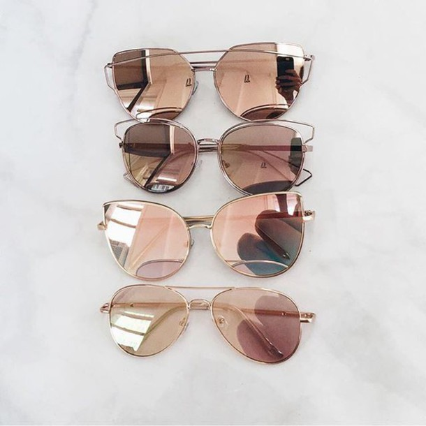 babaccd10 sunglasses rose gold gold sunnies hot sexy summer cute aviator sunglasses  cat eye reflective