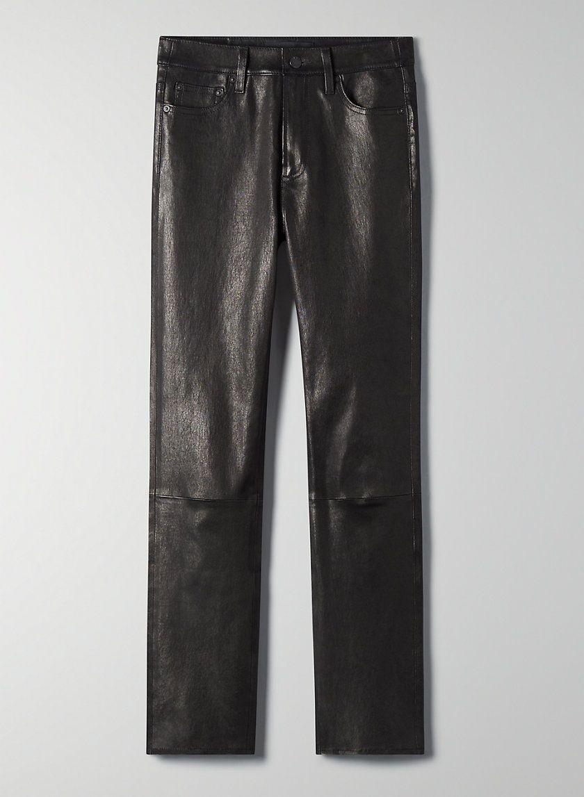 Denim Forum The Yoko Leather Slim Pant