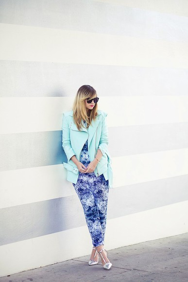 late afternoon pants shoes jewels sunglasses jacket