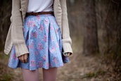 skirt,floral,flowers,pastel,girly,cute,blue,light,pink