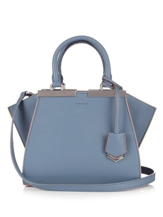 cross mini bag leather light blue light blue