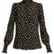 Sloan leaf-print silk blouse
