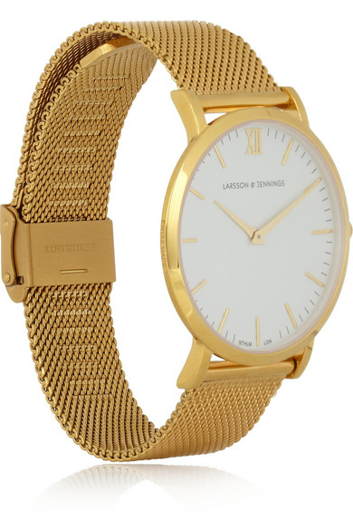 Larsson & Jennings | CM gold-plated watch | NET-A-PORTER.COM