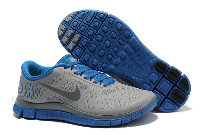 Men's Nike Free 4.0 V2 Wolf Grey/Reflective Silver-Cool Grey-Soar Shoes