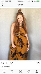dress,bree kish,plus size,yellow,floral,fashion,plus size dress,maxi dress