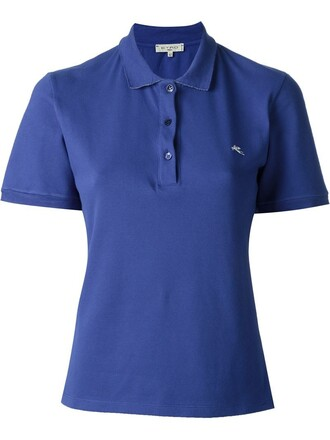 shirt polo shirt women spandex cotton blue top