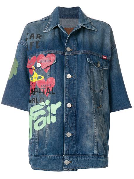 VIVIENNE WESTWOOD RED LABEL jacket oversized jacket oversized women cotton blue