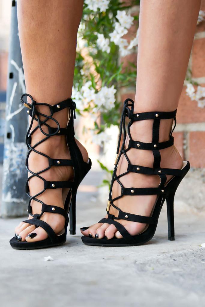 Loewe strap sandal heel