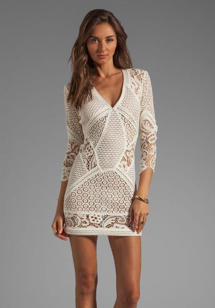 Cream Lace Dress Iro Rovea Lace Dress in Cream