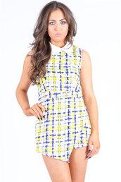 dress,collar,geometric print