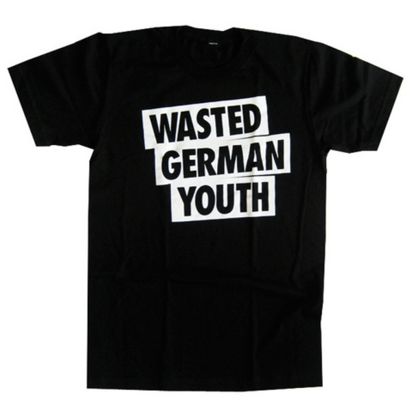 t-shirt wasted german youth wasted german youth wgy techno berlin black