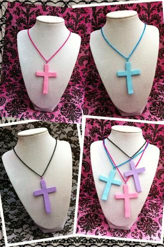 jewels cross necklace