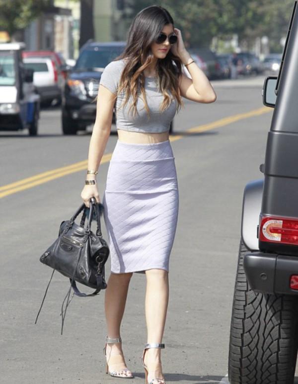 skirt kylie jenner kardashians kardashians violet purple lavender shoes