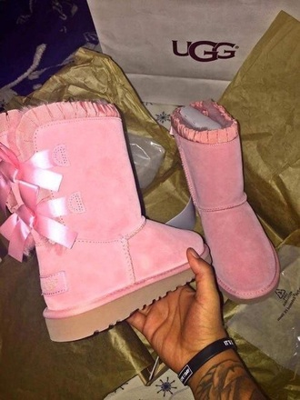 shoes ugg boots pink pink boots