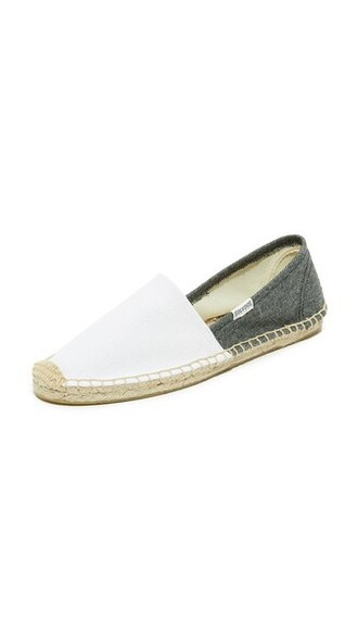 colorblock espadrilles white black shoes
