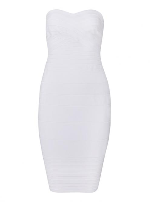 White strapless bandage dress h041 $99