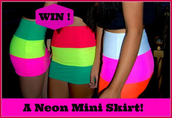 skirt neon miniskirt mini skirt neon skirt pink pink skirt yellow red orange skirt rasta rasta rasta barbie bodycon bodycon skirt clubwear summer