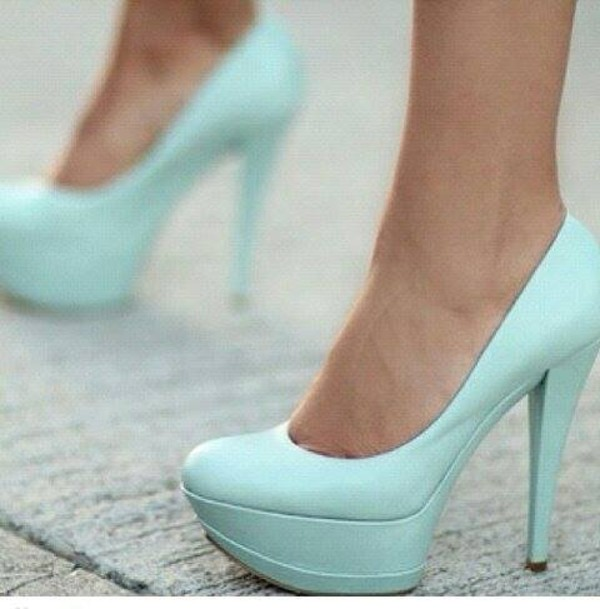 shoes high heels mint