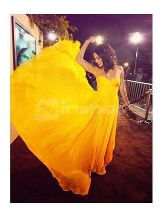 dress yellow yellow dresses yellow dress fashion dress prom gown prom dress long prom dress 2014 prom dresses vanessa hudgens chiffon dress