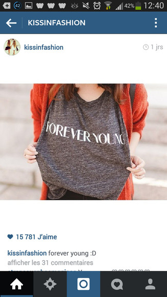 t-shirt forever young forever young t-shirt grey t-shirt