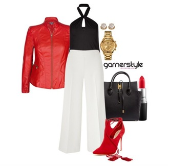 garner style blogger jacket top pants bag