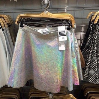 skirt instagram holographic style mini skirt