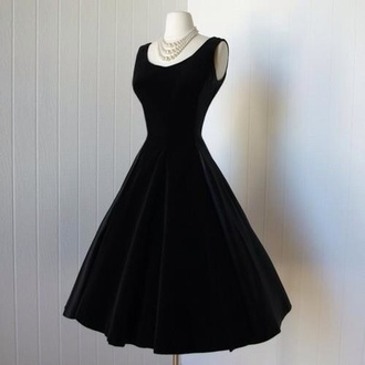 dress black dress audrey hepburn velours prom dress little black dress