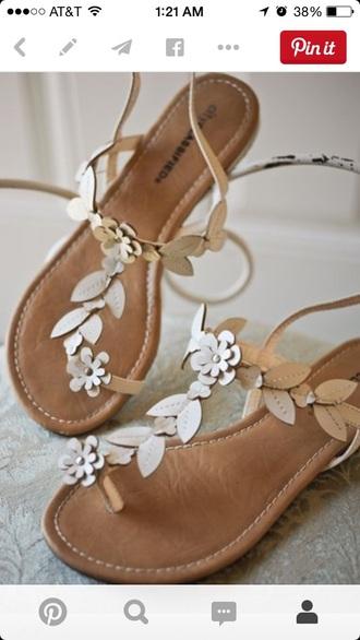 shoes sandals leaf