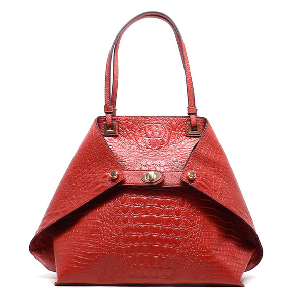 bag red bag crocodile print handbags animal print satchel satchel shopper tote red tote folded handbag double face handbag designer inspired tote red purse croc handbag ladiesfashionsense boutique red bags leather bag fashion handbags snake skin print