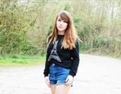 sweater,black,sweatshirt,paris,soft grunge,l.a. style,fashion,celebrity style steal