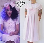 dress,melanie martinez,crybaby,pink dress,halloween,halloween costume,music video,dollhouse