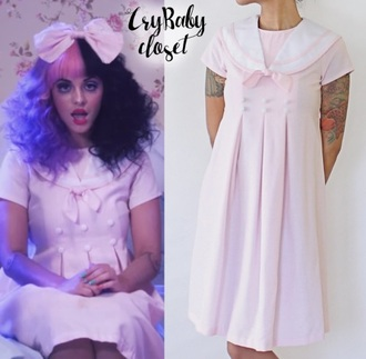 dress melanie martinez crybaby pink dress halloween halloween costume music video dollhouse